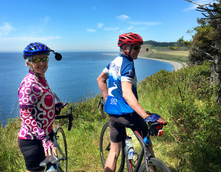 Cyclists on Whidbey Island